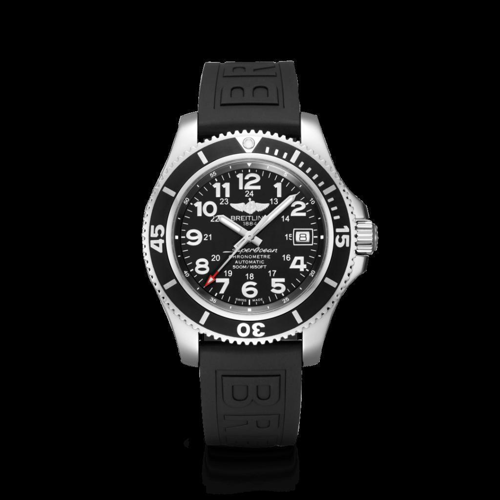 Breitling – Superocean II 42 Stahl – Black Rubber Bezel