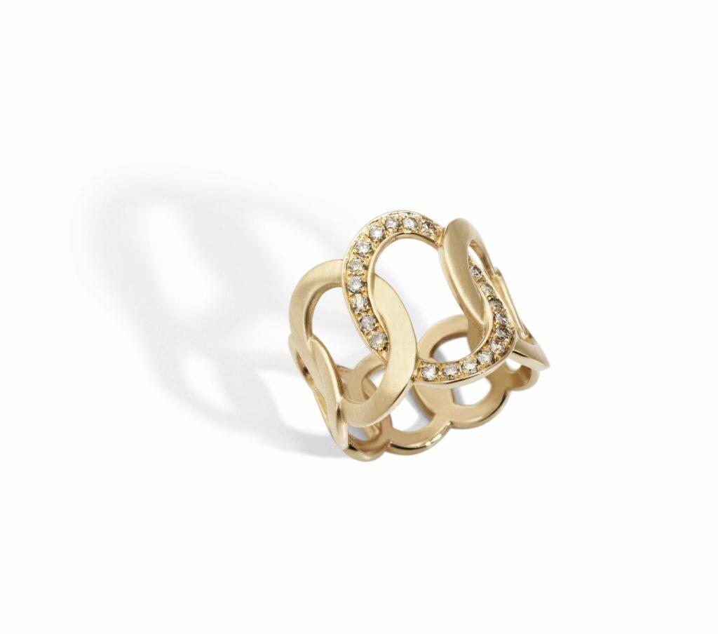 Pomellato – BRERA Ring aus Roségold mit Diamanten