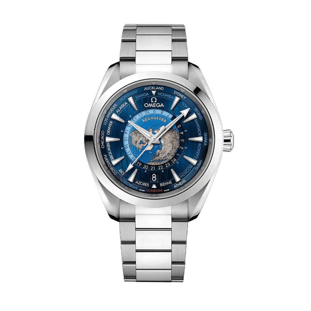 Omega-Seamaster Aqua Terra 150m Omega-Co-Axial Master Chronometer GMT Worldtimer 43mm