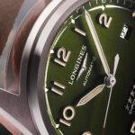 Detailbild Zifferblatt Longines Spirit grün