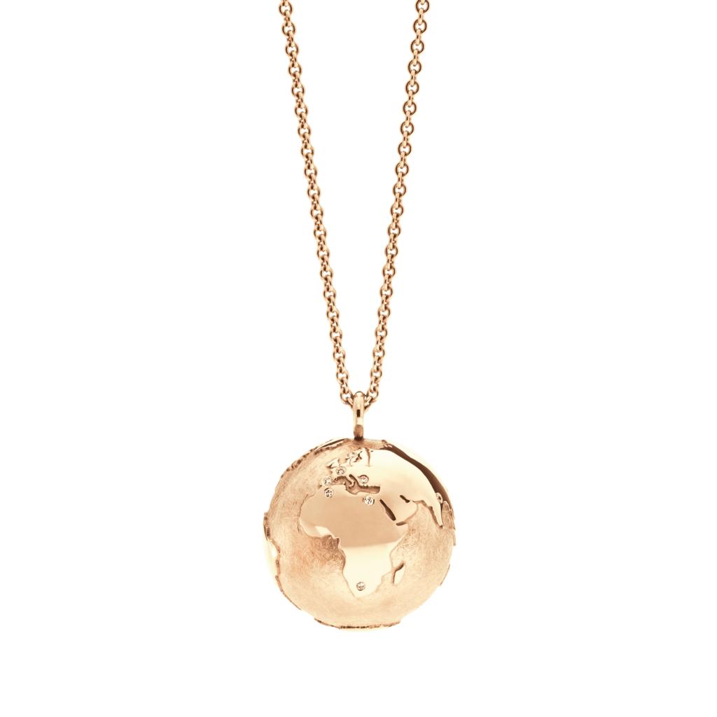 Schmuckwerk – Halskette Meine Welt Rotgold