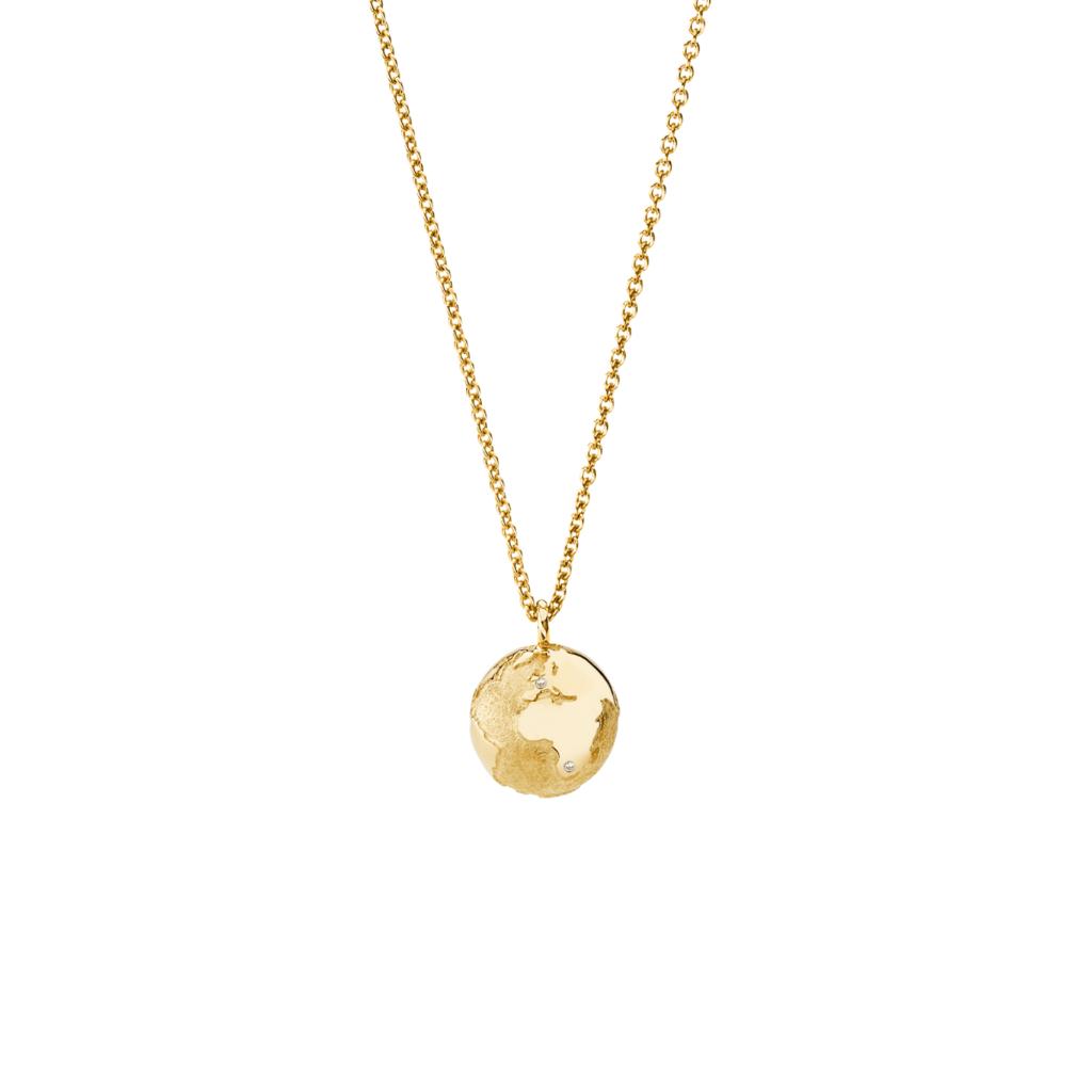 Schmuckwerk – Halskette Meine Welt Gelbgold