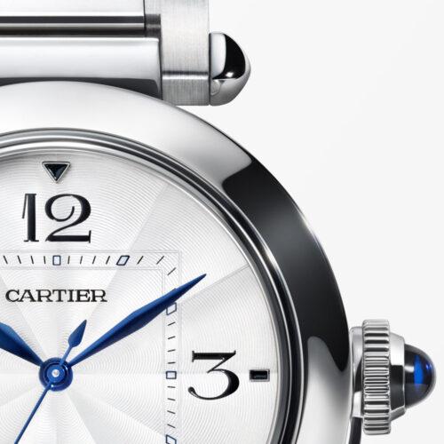 Pasha de Cartier bei Juwelier Jasper – Detail Zeiger